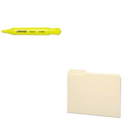 KITSMD10335UNV08861 - Value Kit - Smead File Folder SMD10335 and Universal Desk Highlighter UNV08861