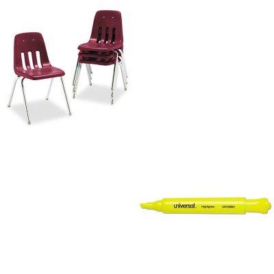 KITUNV08861VIR901850 - Value Kit - Virco 9000 Series Classroom Chair VIR901850 and Universal Desk Highlighter UNV08861