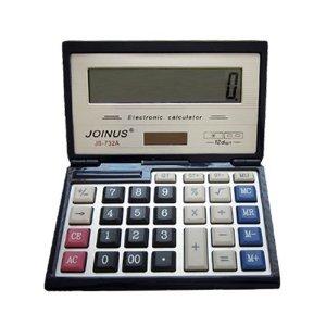 Bavvo JOINUS JS-732A Dual Power Executive Foldable Style 12 Digit Basic Calculator