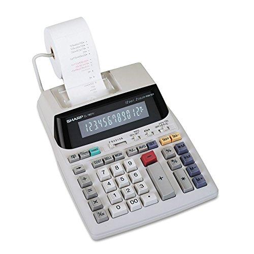 Sharp EL1801V EL-1801V Two-Color Printing Calculator BlackRed Print 21 LinesSec