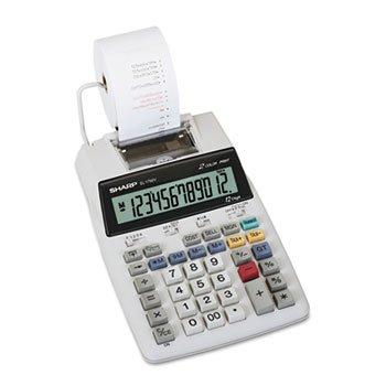 Sharp El-1750v Two-Color Printing Calculator BlackRed Print 2 LinesSec