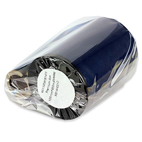 1PK OfficeSmartLabels Black 433 x 1476 width x length Premium Performance Thermal Wax Ribbon for Zebra Desktop Printer S4M Z4M 105SE 105S 105SL 105SLPlus 160S S500 S600 Z4000 ZT200 ZT220 ZT230 ZT410 ZT420 ZM400 ZM600 110Xi4 140Xi4 170Xi4 220Xi4 RZ400