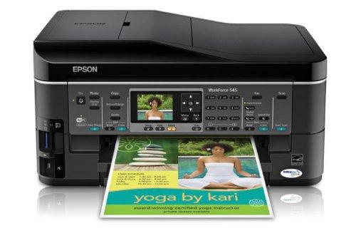 Epson WorkForce 545 Wireless All-in-One Color Inkjet Printer Copier Scanner Fax iOSTabletSmartphoneAirPrint Compatible C11CB88201