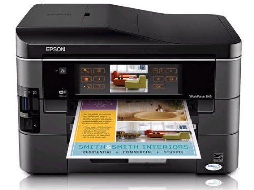 Epson WorkForce 845 Wireless All-in-One Color Inkjet Printer Copier Scanner Fax iOSTabletSmartphoneAirPrint Compatible C11CB92201