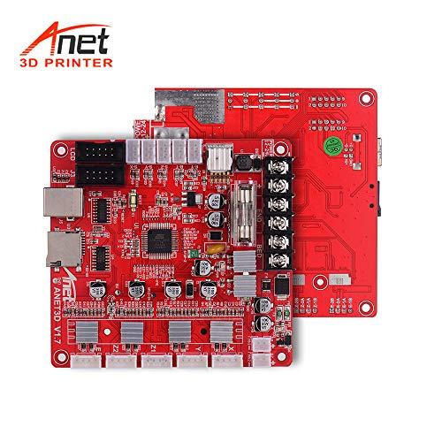 Aibecy Anet A1284-Base V17 Base Control Board Mother Board Mainboard for Anet A8 Plus DIY Self Assembly 3D Desktop Printer RepRap i3 Kit Upgrade Supplies 24V