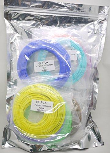 Richwise PLA Filament for 3D PenPrinter 175mm diameter 20 Colors Each 10m Length Total Length 200m