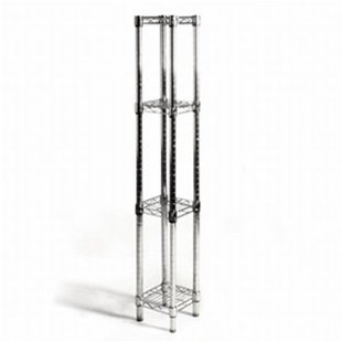 8d x 8w x 64h Chrome Wire Shelving with 4 Shelves