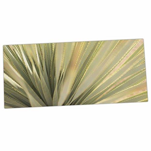 KESS InHouse Kristi Jackson Cactus Green Yellow Desk Mat 13 x 26