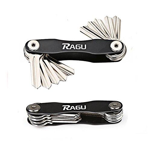 Ragu Key Organizer Key Chain Key Holder Pocket Organizer Compact Design Aircraft Aluminum Material Fit up to 10 Keys