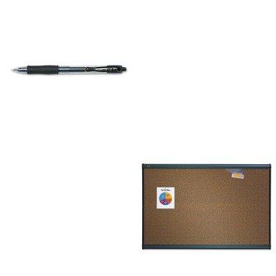 KITPIL31020QRTB244G - Value Kit - Quartet Prestige Bulletin Board QRTB244G and Pilot G2 Gel Ink Pen PIL31020