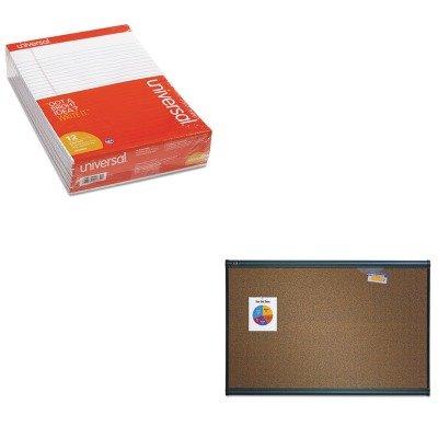 KITQRTB243GUNV20630 - Value Kit - Quartet Prestige Bulletin Board QRTB243G and Universal Perforated Edge Writing Pad UNV20630