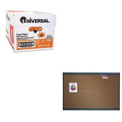 KITQRTB243GUNV21200 - Value Kit - Quartet Prestige Bulletin Board QRTB243G and Universal Copy Paper UNV21200