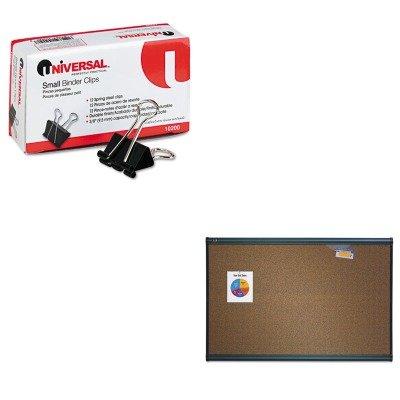 KITQRTB244GUNV10200 - Value Kit - Quartet Prestige Bulletin Board QRTB244G and Universal Small Binder Clips UNV10200