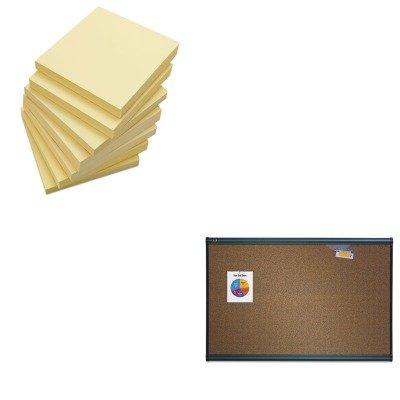 KITQRTB244GUNV35668 - Value Kit - Quartet Prestige Bulletin Board QRTB244G and Universal Standard Self-Stick Notes UNV35668