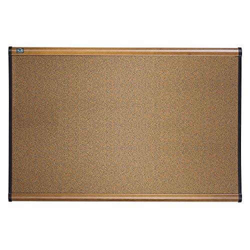 Quartet B243MA Quartet Prestige Bulletin Board Graphite-Blend Cork 36 x 24 Maple Frame