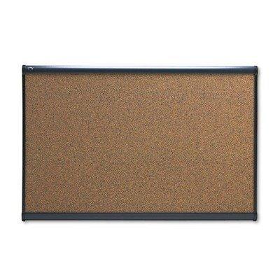 Quartet Prestige Bulletin Board Brown Graphite-Blend Surface 72 x 48 Cherry Frame Cherry Frame