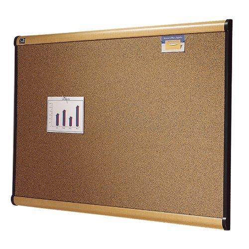 Quartet Prestige Bulletin Board Graphite-Blend Cork 48 x 36 Inches Maple Frame 244MA by Quartet