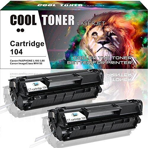 Cool Toner 2 Pack Compatible Canon 104 Cartridge 104 CRG-104 Fx-10 Fx-9 Black Toner Cartridge For Canon Faxphone L100 L90 L120 ImageClass MF4350d MF4150 D480 MF4370dn MF4350 MF4270 LBP3000 Printer
