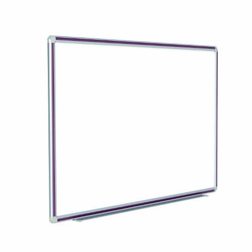 Ghent 36 x 48 DecoAurora Aluminum Frame Porcelain Magnetic Whiteboard Burgundy Trim DFMBG34