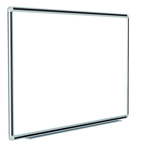 Ghent 48 x 72 Deco Aurora Aluminum Frame Porcelain Magnetic Whiteboard Black Trim DFMBK46
