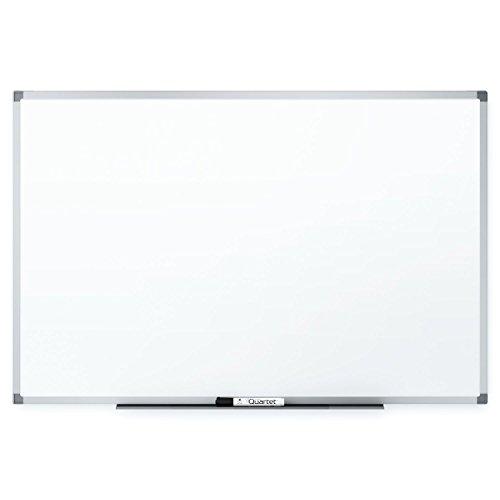 Quartet Magnetic Whiteboard 6 x 4 Feet Silver Aluminum Frame Standard DuraMax Porcelain 85517