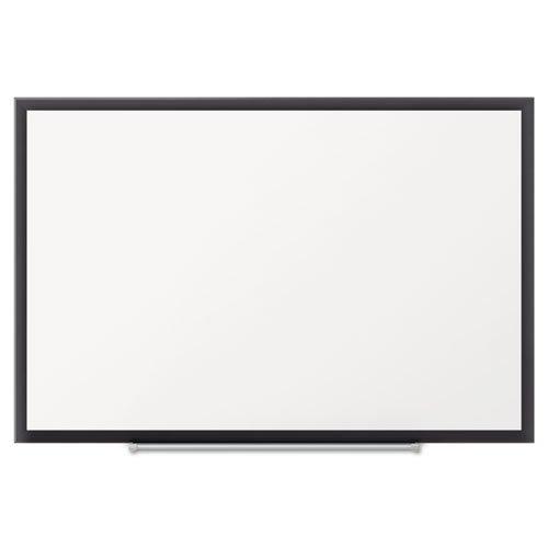 Quartet Premium DuraMax Porcelain Magnetic Whiteboard 5 x 3 Black Aluminum Frame