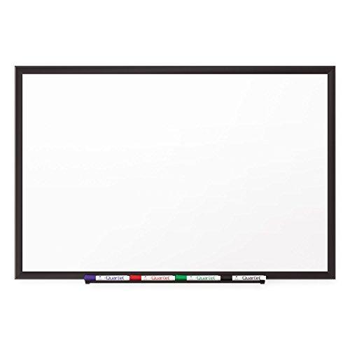 quartet Classic Porcelain Magnetic Whiteboard 36 x 24 Black Aluminum Frame