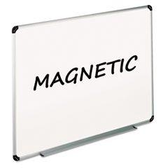 Magnetic Dry Erase Board Melamine 48 x 36 White AluminumPlastic F
