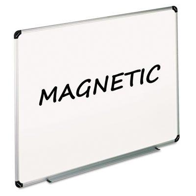 Magnetic Dry Erase Board Melamine 48 x 36 White AluminumPlastic Frame