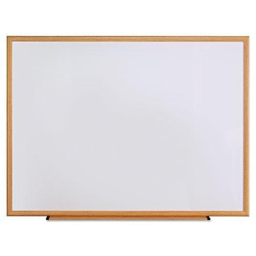 UNIVERSAL OFFICE PRODUCTS 43618 Dry Erase Board Melamine 48 x 36 Oak Frame