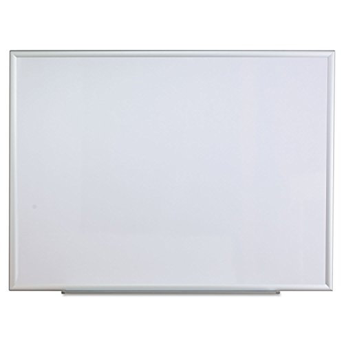 Universal 44636 Dry Erase Board Melamine 48 x 36 Aluminum Frame