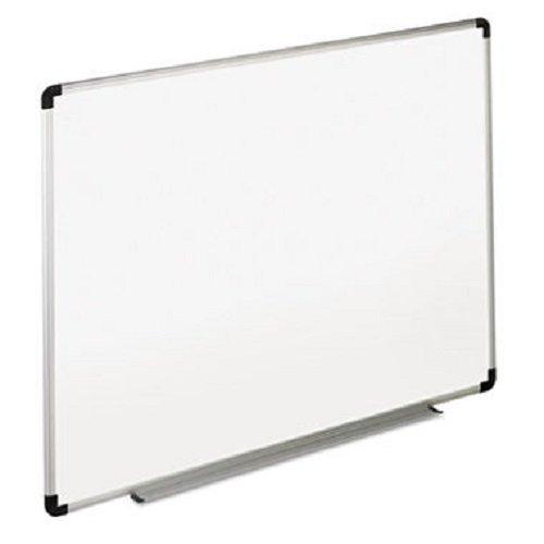 Universal Dry Erase Board Melamine 48 x 36 Inches BlackGray AluminumPlastic Frame 43724 2 Boards