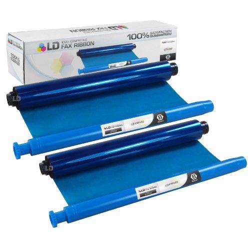 LD © Compatible Panasonic KX-FA92 Black Fax Refill roll 2-Pack