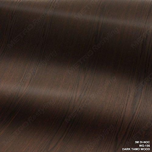 3M DI-NOC WG-156 Dark TAMO Woodgrain 4ft x 1ft 4 sqft Vinyl Film Series