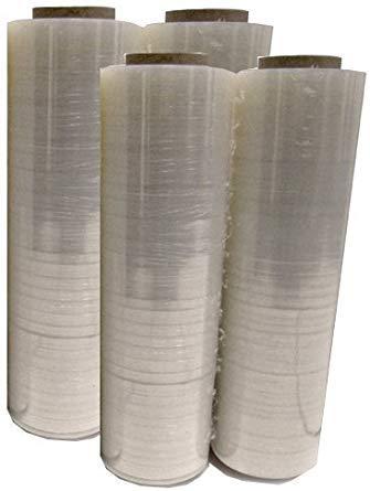 Mega Big Box Four 4 Plastic Shrink Stretch Wrap 80 Gauge 4 Rolls Pallet Wrap Stretch Film Hand Shrink Wrap 1476 sq ft 445mm x 450m