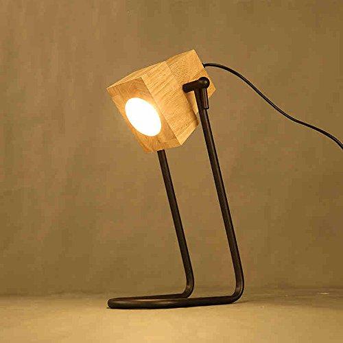 Reading table lamp simple modern wood art style living room bedroom bedside lamp creative student learning energy saving desk lamp