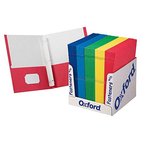 School Grade Twin Pocket FOLDERS with Fasteners 100 PER Box