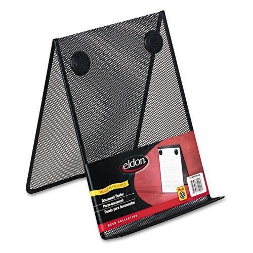ELDON OFFICE PRODUCTS Nestable Wire Mesh Freestanding Desktop Copyholder Stainless Steel Black FG9C9500BLA