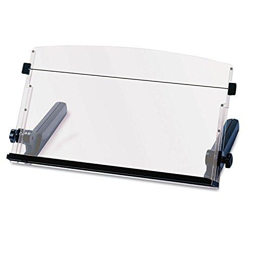 In-Line Freestanding Copyholder Plastic 300 Sheet Capacity BlackClear