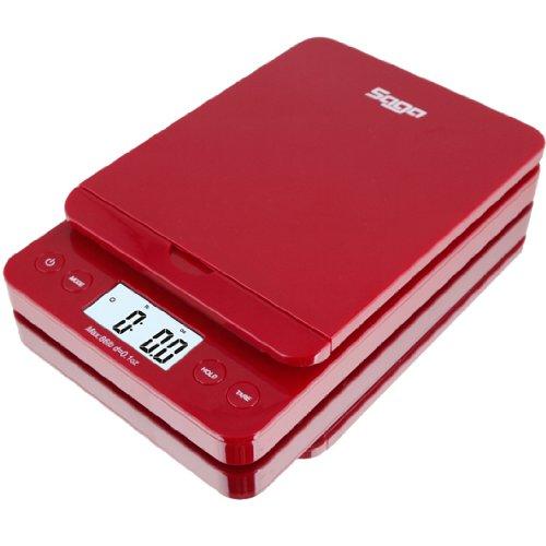 SAGA 01 oz to 86 lb Digital Postal Scale Red