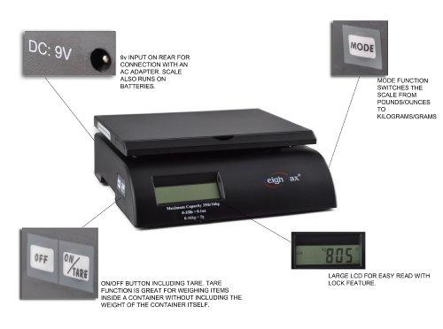 Weighmax Digital Postal Scale Black W-2822-35-BLK