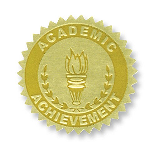 Flipside H-VA372-3 Hayes Gold Foil Embossed Seals Academic Achievement - Pack of 3