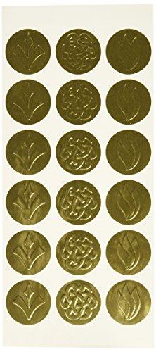 Geographics Self-Adhesive Embossed Seals Gold 54 per Pack 45204