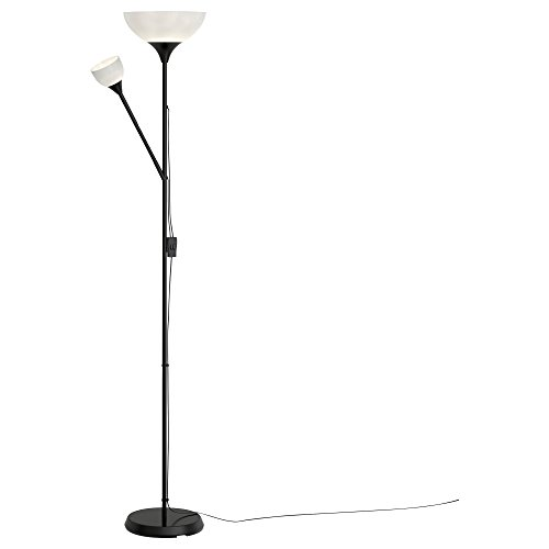 Ikea Not Floor Lamp Reading LED Light Bulbs Included Adjustable Spotlight Arm With bulbs Lamp  2 LED Bulbs