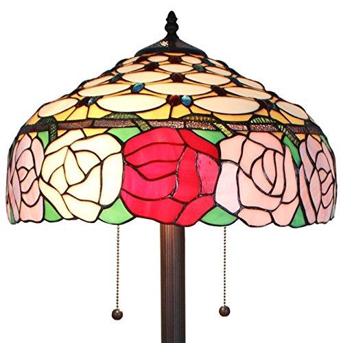 Amora Lighting AM062FL16 Tiffany Style Roses 61-inch Floor Lamp 62 In