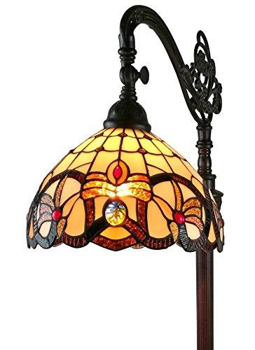 Amora Lighting AM272FL11 62-inch Tiffany-Style Victorian Reading Floor Lamp