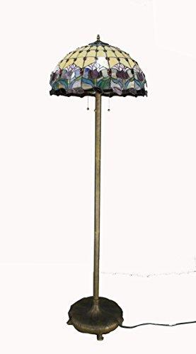 Fixture Displays Tiffany Style Elegant Floor Lamp 20-Inch Shade 16059