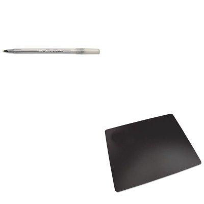 KITAOPLT812MSBICGSM11BK - Value Kit - Artistic Rhinolin II Desk Pad with Microban AOPLT812MS and BIC Round Stic Ballpoint Stick Pen BICGSM11BK