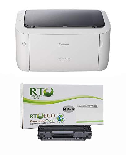 Renewable Toner ImageCLASS LBP6030W MICR Check Printer Bundle with 1 Compatible 125 3484B001AA MICR Toner Cartridge