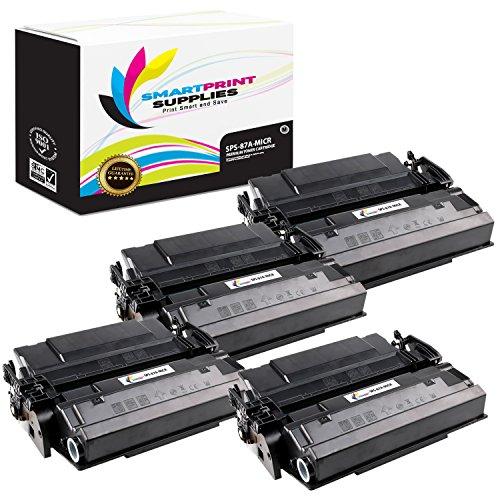 Smart Print Supplies Compatible 87A CF287A MICR Black Toner Cartridge Replacement for HP Laserjet M501 Enterprise M506 MFP M527 Printers 9000 Pages - 4 Pack